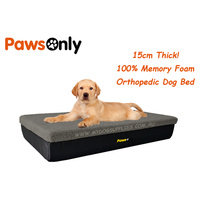 Small Grey Premium Memory Foam Dog Bed