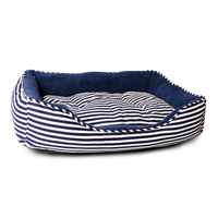 Medium Sailar Blue Stripe Dog Bed