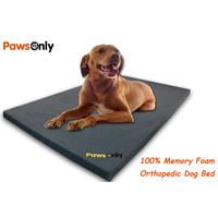 Large Grey Comfort Orthopedic Memory Foam Dog Bed
