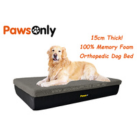 Large Grey Premium Orthopedic Memory Foam Dog Bed