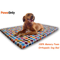 Large Polka Dot Comfort Orthopedic Memory Foam Dog Bed