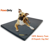 Medium Grey Comfort Orthopedic Memory Foam Dog Bed