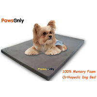 Small Brown Comfort Orthopedic Memory Foam Dog Bed