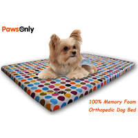 Small Polka Dot Comfort Orthopedic Memory Foam Dog Bed