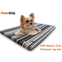Small Stripe Comfort Orthopedic Memory Foam Dog Bed