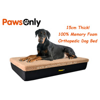 Extra Large Brown Premium Orthopedic Memory Foam Dog Bed