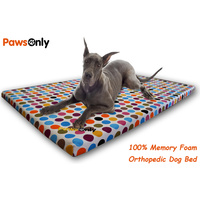 Extra Large Polka Dot Comfort Orthopedic Memory Foam Dog Bed