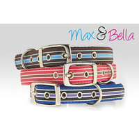 Max & Bella Street Stripe Dog Collar