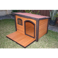 Large Wooden Dog House Premium