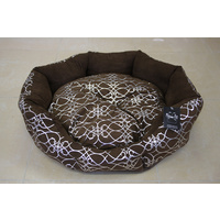 Silver Bloom Brown Dog Bed - Small